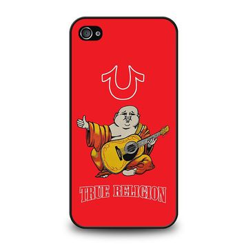 RED BIG BUDDHA TRUE RELIGION iPhone 4 / 4S Case Cover