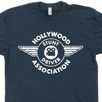 Hollywood Stunt Driver T Shirt Evel Knievel T Shirt Vintage Movie Shirt