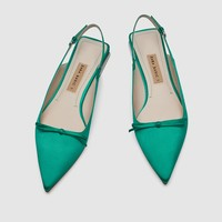 FLAT SLINGBACK SHOES WITH BOW DETAIL DETAILS