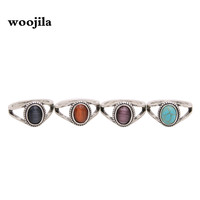 Fashion antiqued silver rings,Artificial blue stone rings,red ,purple stone rings for women-in Rings from Jewelry & Accessories on Aliexpress.com | Alibaba Group