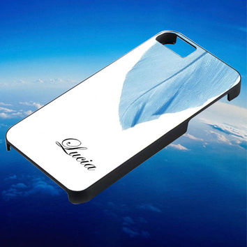 blue feather custom name for iPhone 4/4s/5/5s/5c/6/6 Plus Case, Samsung Galaxy S3/S4/S5/Note 3/4 Case, iPod 4/5 Case, HtC One M7 M8 and Nexus Case ***