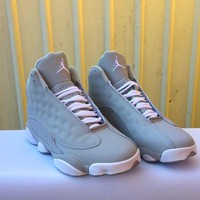 Best Deal Online Nike Air Jordan Retro 13 Gray White Men Basketball Sneaker Sport Shoes