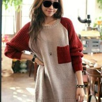 Casual Block Colour Sweater Jacket MS3445 from MooChiStyle