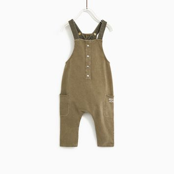 STRIPED OVERALLS WITH STRAPS