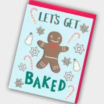 """Let's Get Baked"" Holiday Card"