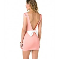 Open Bow Back Dress