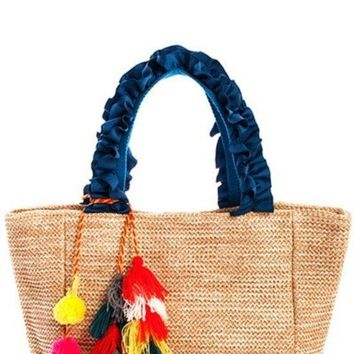Fashion Woven Princess Satchel Bag