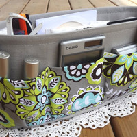Purse ORGANIZER Insert SHAPER / Paisley Floral by DivideAndConquer