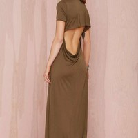 After Party Vintage Backed Out Midi Dress