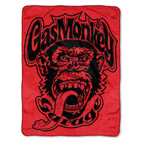 Gas MG (Red Monkey( Logo Micro Raschel Blanket (46in x 60in)