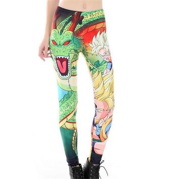 Anime DRAGON BALL cosplay 3D digital printing Leggings Tight trousers Sports pants Ninth pants