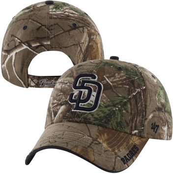 47 Brand San Diego Padres Cleanup Adjustable Hat - Realtree Camo