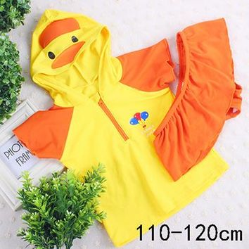 swimwear kids boy penguin duck 90to130cm baby boy swimwear baby girl kids children child swimwear string suits swim 2 piece