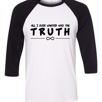 "One Direction ""Infinity - All I Ever Wanted Was The Truth"" Baseball Tee"