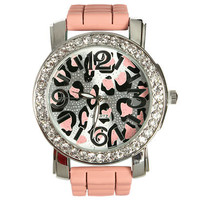 Leopard Rhinestone Rubber Watch | Shop Carly's Picks at Wet Seal