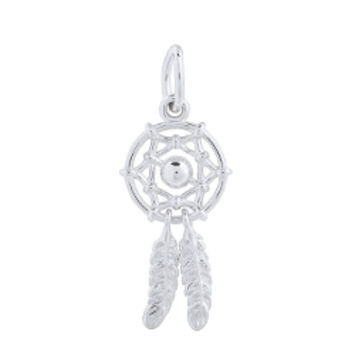 """Dream Catcher"" Silver Pendant - © Origami Owl, LLC"