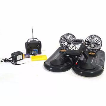 Multifunctional RC Hovercraft Air Powered Boat, Black