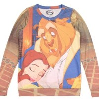Hot Topic Women's Disney Beauty And The Beast Pullover Top