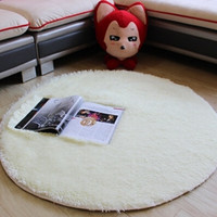 Large modern shaggy round rugs and carpets for living room bedroom carpet rug for home Yoga Mat 120cm tapete para sala