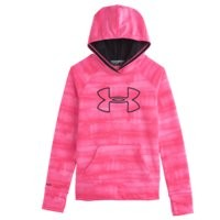 Under Armour Girls UA Power In Pink Armour Fleece Big Logo Hoodie