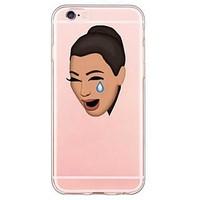 For iPhone 7 Back Cover Transparent Body / Ultra-thin Cartoon TPU for Apple iPhone 6s 6 Plus