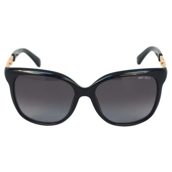 Jimmy Choo Shiny Black Sunglasses
