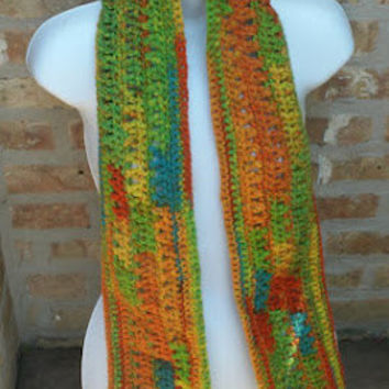 Crochet Scarf - The Long Scarf in Jazz - Unisex scarf - Fall Accessories, Winter Accessories