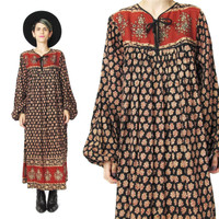 Vintage 70s Indian Cotton Dress (M)