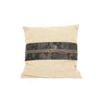 Voyager Leather Pillow Cover