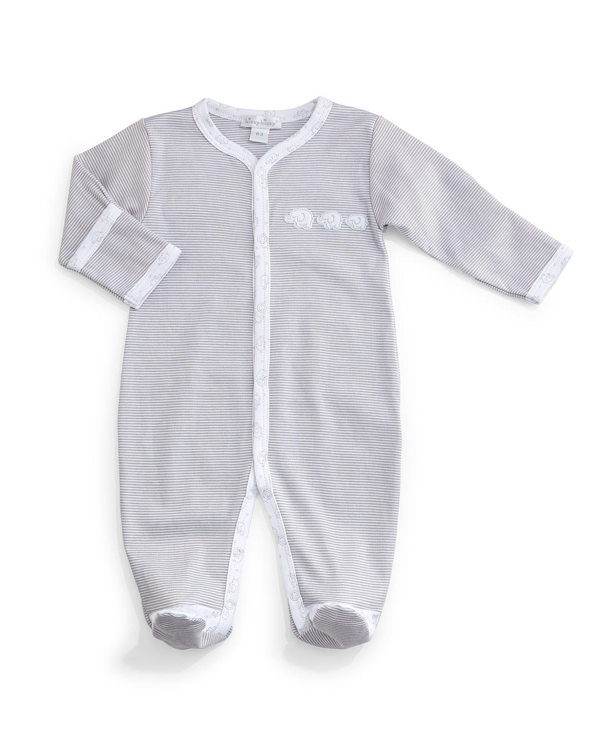 d8f77767b Baby Elephants Pima Footie Pajamas