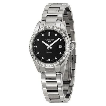 Longines Conquest Classic Black Dial Stainless Steel Ladies Watch L22850576