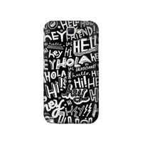 P2744 Hey Hi Hello Pattern Phone Case For Samsung Galaxy Note 2