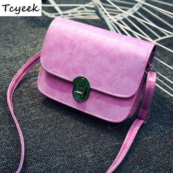 Hottest Fashion 2016 New Arrive Small Size Bag Ladies Korean Style Female Flap Many Color Vintage Women Messenger Bags GQ1197