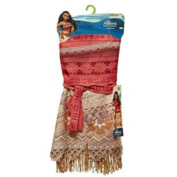 Disney Moana Girls Adventure Outfit, Age: 3+, Size: 4 - 6x unique prints fringe details