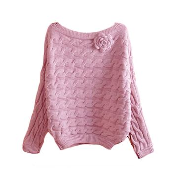 Women Sweater-Rose