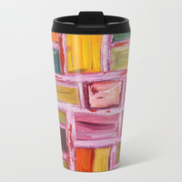 Abstract Painting Metal Travel Mug by mariameesterart
