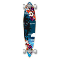 Punked Pintail Tropical Night Longboard Complete