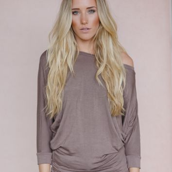 Plain + Simple Mocha Dolman