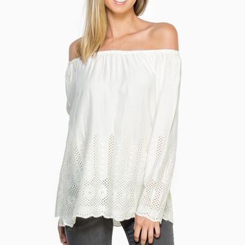 ShopSosie Style : Joni Off-Shoulder Blouse