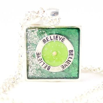 Green & Lime Mustard Seed Necklace