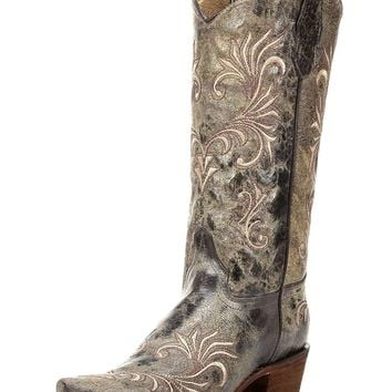 Circle G by Corral New Women's L5133 Filigree Snip Toe Western Boot