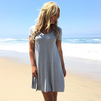 Made For Me Jersey Dress In Grey