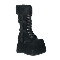 BEAR-202 Veggie Suede Gothic Platform Boots by Demonia Shoes