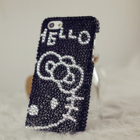 Classical Lovely Diamond Hello Kitty iPhone 5 Case, iphone 4 case, iphone 4s case, Apple iPhone case, iphone 5 case