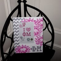 Phi Mu Greek Sorority Decorative Frame