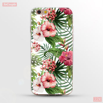 Plants & Flowers Painted Ultrathin Soft TPU Back Case Cover Shell for iPhone 5 5s SE 6 6s 6 Plus 6s Plus 7