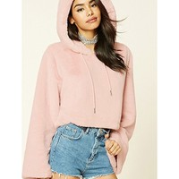 FOREVER21 FOREVER21 Women's Blush Faux Fur Hoodie from Forever 21 | more