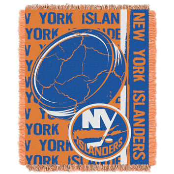 New York Islanders NHL Triple Woven Jacquard Throw (Double Play Series) (48x60)