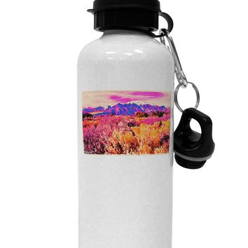 Colorful Colorado Mountains Aluminum 600ml Water Bottle by TooLoud