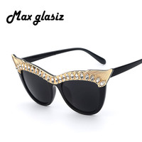 Women Retro Cateye Sunglasses 2015 New Designer Leopard Black Glasses Female Outdoor Eyewear High Quality lentes de sol